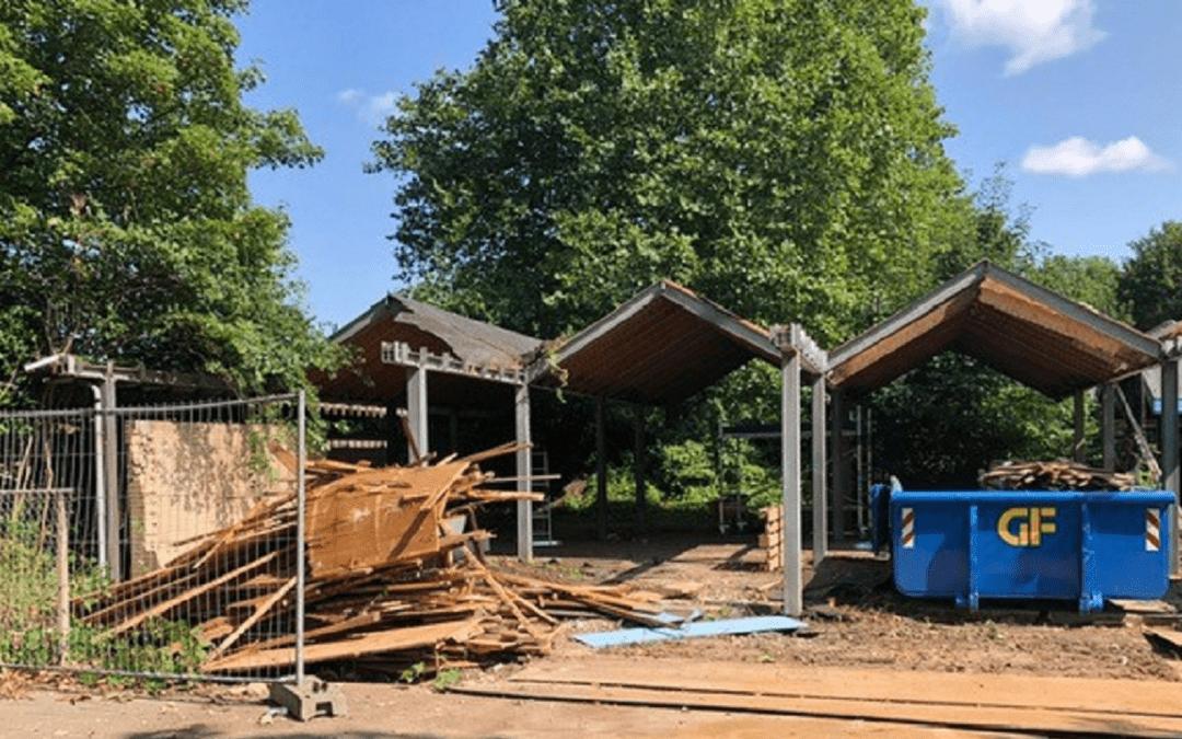 Drie padelbanen in aanbouw